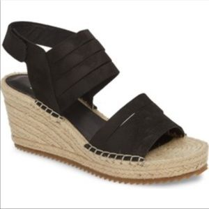 Eileen Fisher leather espadrille sandal.